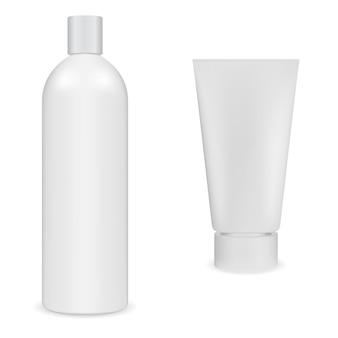 흰색 플라스틱 용기 블랭크