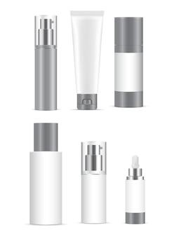 Белый пластиковый контейнер для косметических продуктов