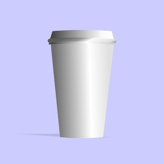 White plastic cup vector