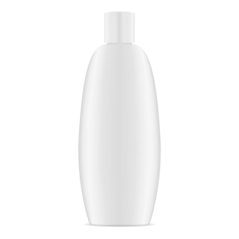 White plastic oval cosmetic container