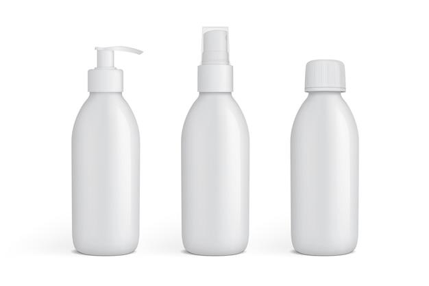 Белая пластиковая упаковка для жидкостей