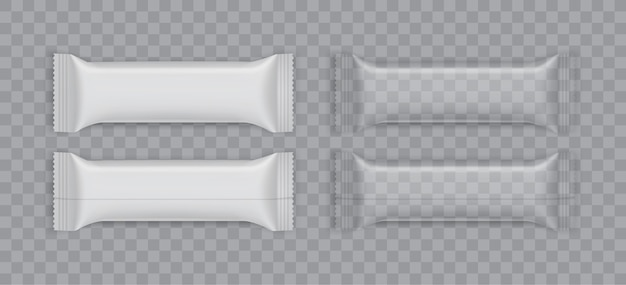 White plastic packaging isolated