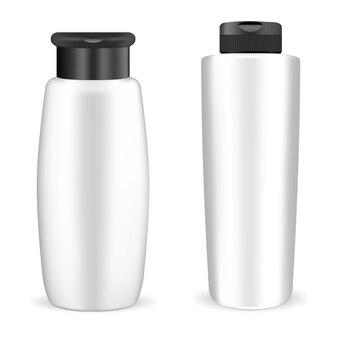白いプラスチック製のシャンプーボトル
