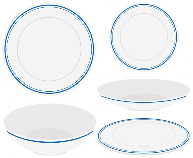 White plates with blue trim  sc 1 st  Freepik & Plate Vectors Photos and PSD files | Free Download