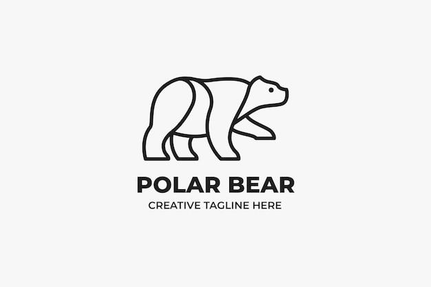 White polar bear monoline logo