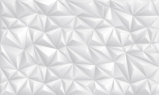 白いポリゴン幾何学的なシームレスな未来技術デザイン背景テクスチャベクトル