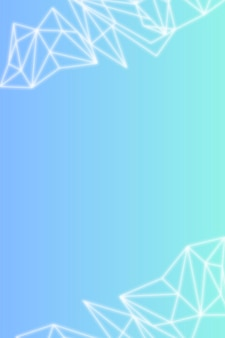 White polygon pattern on bluish gradient background social template vector