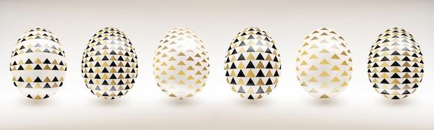 White porcelain easter egg with decor