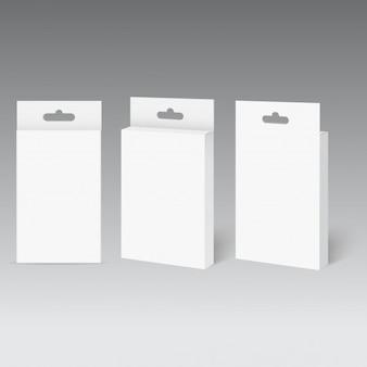 ハングスロット付き白製品パッケージボックス