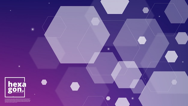 White purple background of hexagons. geometric style. mosaic grid. abstract hexagons deisgn