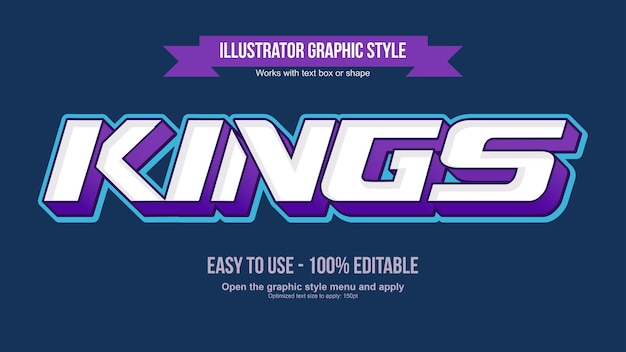 White and purple sports gaming text effect