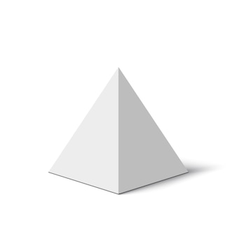 White pyramid.  illustration.