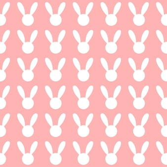 White rabbit pink background