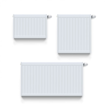 White radiator set