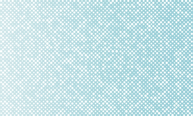 White random dots on blue background.