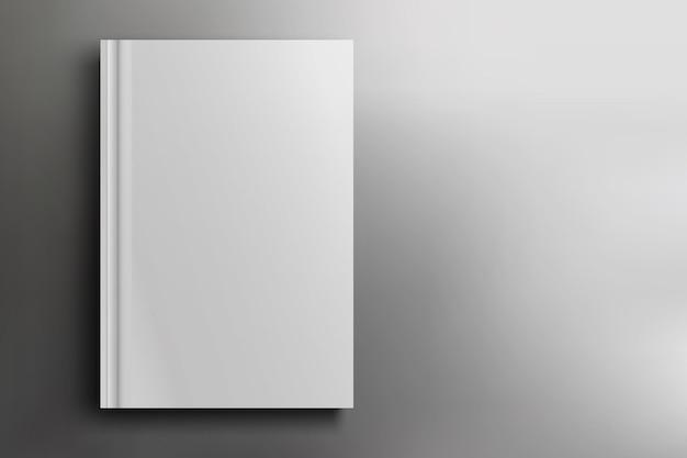白のリアルな白紙の本の表紙のイラスト