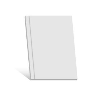 White realistic blank book, magazine, brochure.