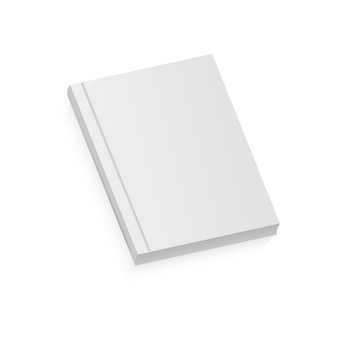 White realistic blank brochure.