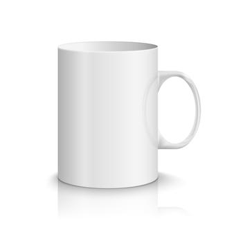 흰색 현실적인 컵 그림