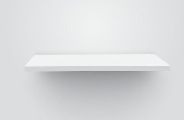 White realistic empty shelf