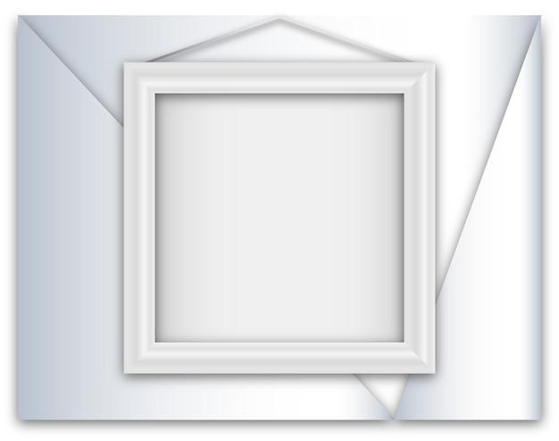 White realistic frame