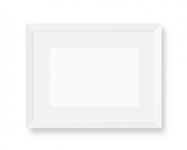 White realistic picture frame