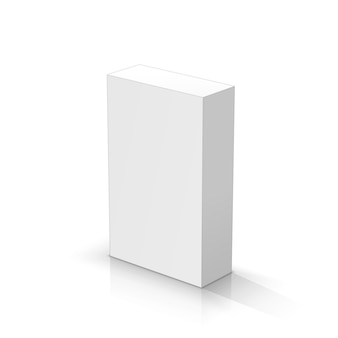 White rectangular parallelepiped