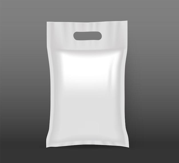 Белая прямоугольная пластиковая упаковка для пищевых продуктов