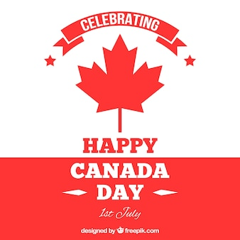 White and red background for canada day
