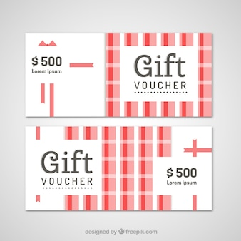 White and red gift vouchers