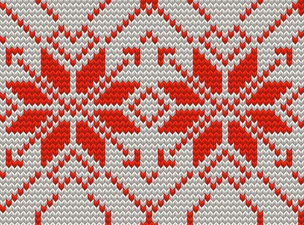 White and red holiday seamless pattern with cross stitch embroidered happy new year ornament. christmas template endless  for package, web sites, textile. and also includes