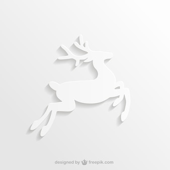 White reindeer silhouette