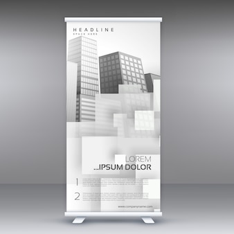 White roll up standee banner vector design for your business presentation