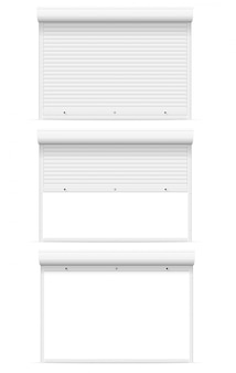 White rolling shutters vector illustration