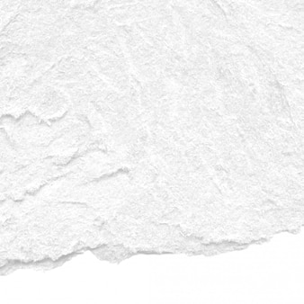 White rough torn paper texture background