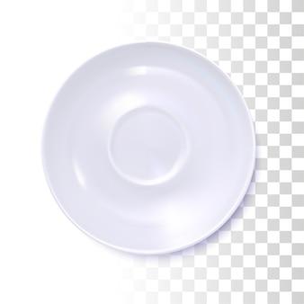White round saucer
