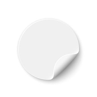 White round sticker. banner. curled paper.  .