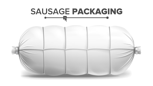 White sausage package