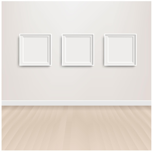 白いスカンジナビアの部屋のインテリアと写真