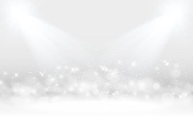スポットライトと白いシーンベクトル図