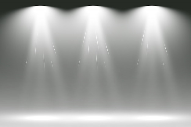 スポットライトで白いシーン。