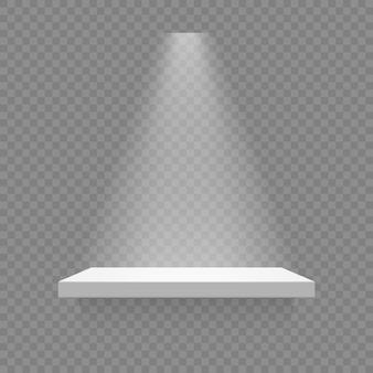 White shelf isolated