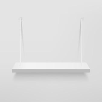 プレゼンテーション用の白い棚