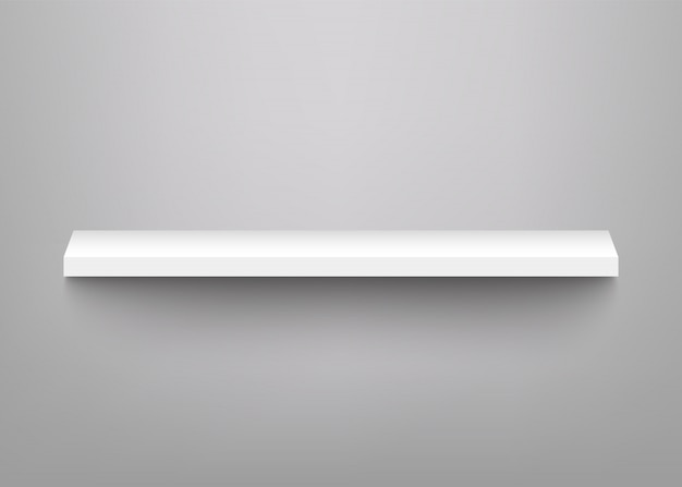 製品展示用の白い棚