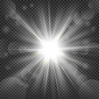 白は透明の背景に輝きます
