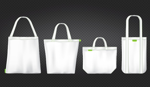 White shopping eco bags