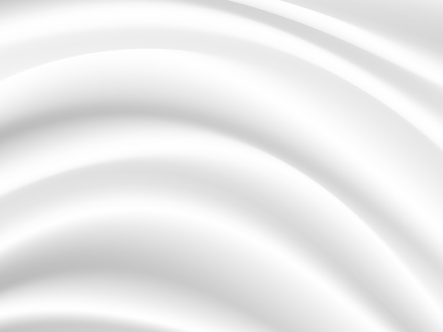 White silk cloth fabric wave overlapping with light and shadow.background