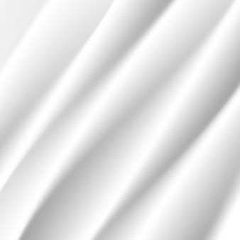 White silk cloth fabric wave overlapping with light and shadow. white and gray abstract background