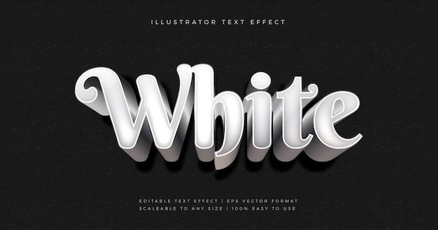 화이트 실버 프리미엄 텍스트 스타일 글꼴 효과