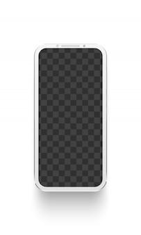 White smartphone.  electronics device  illustration